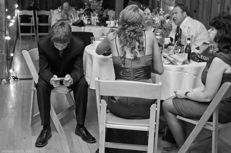 Texting at a wedding